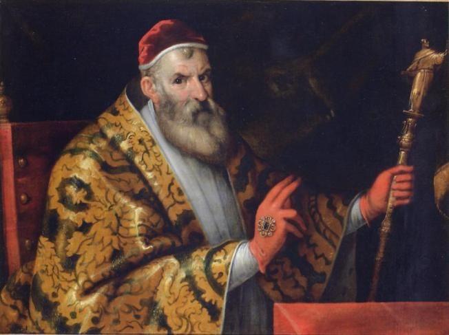 Филиппо Беллини. Портрет Папы Сикста v