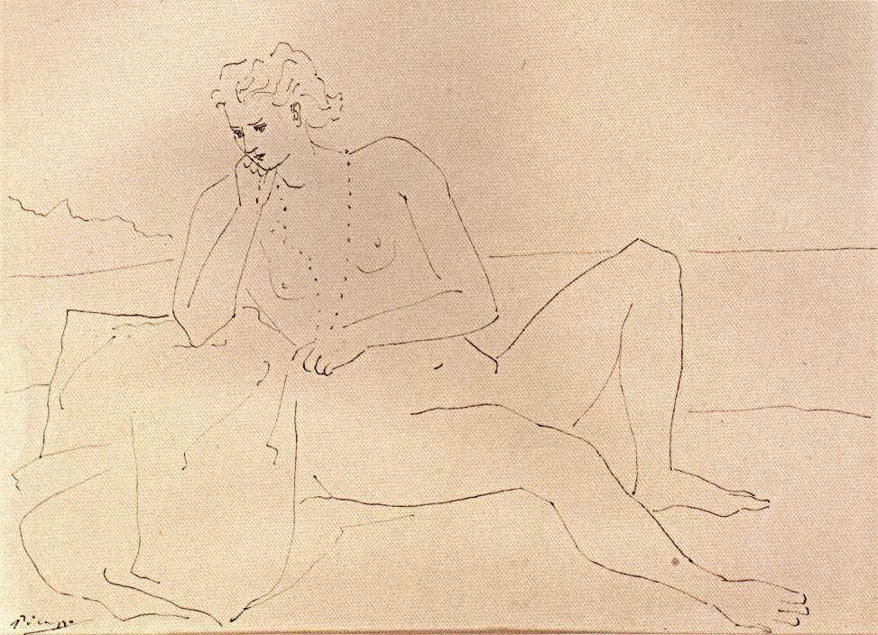 Пабло Пикассо. Обнаженная женщина с ожерельем