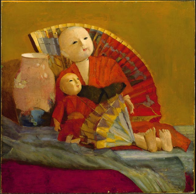 Пол Пил. Японские куклы и веер
