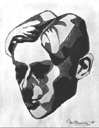 Мауриц Корнелис Эшер. Голова мужчины