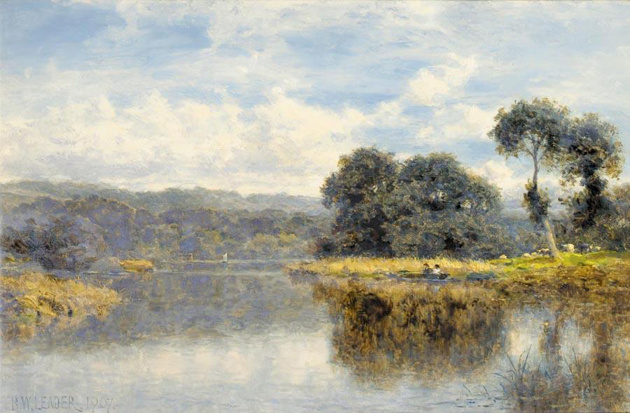 Benjamin Williams Leader. The river