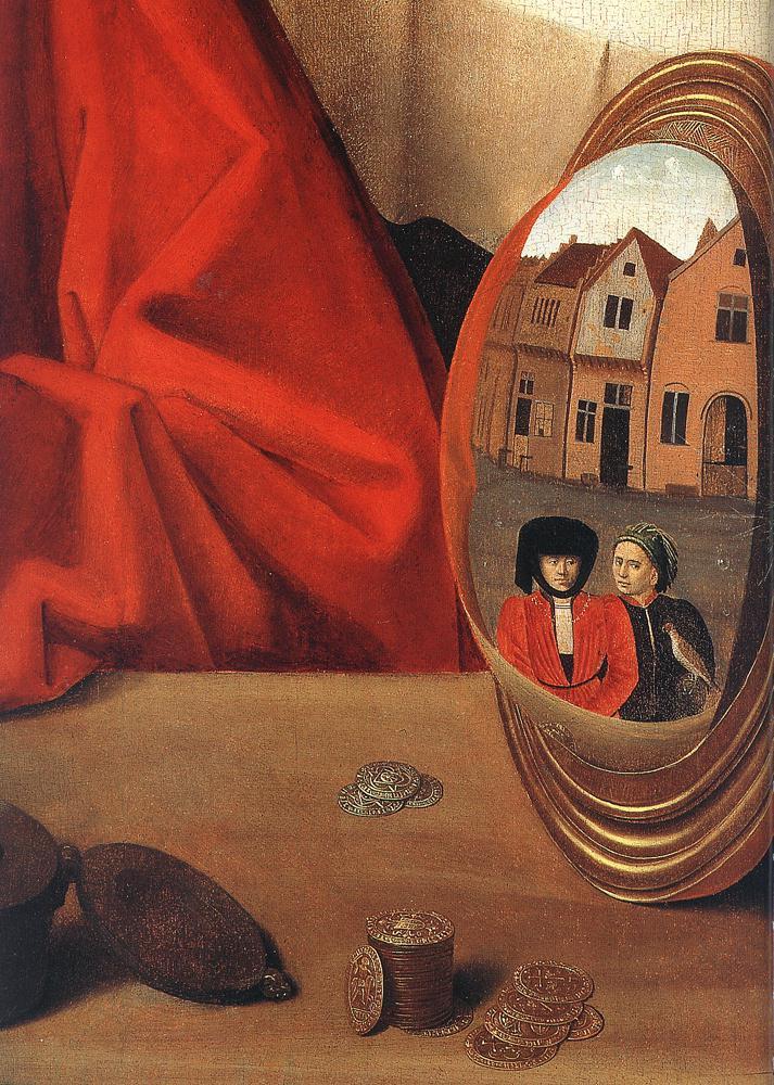 Petrus Christus. Goldsmith in his shop (St. Eligi). Fragment