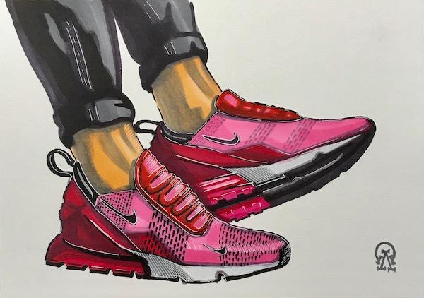 Larissa Lukaneva. Sneakers. Sketch.