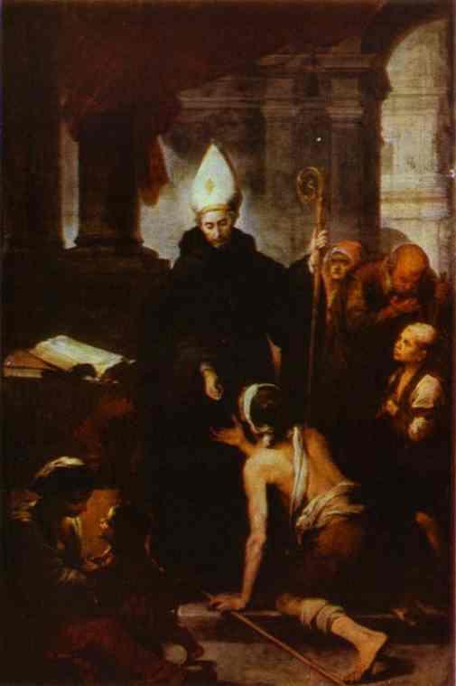 Bartolomé Esteban Murillo. St. Thomas giving alms