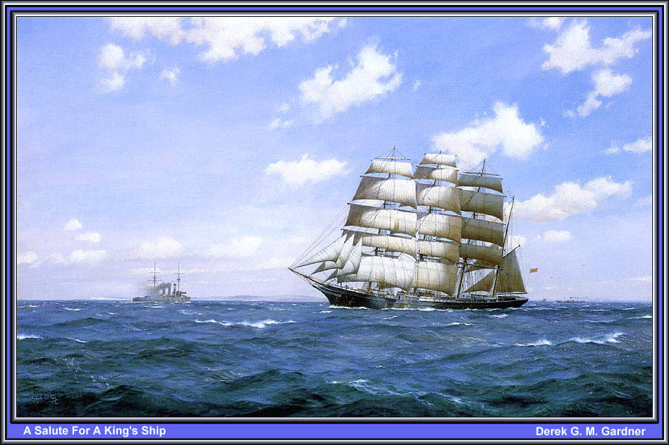 Дерек Гарднер. Салют для королевского корабля