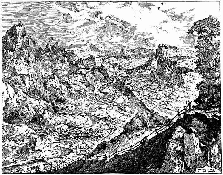 Питер Брейгель Старший. Большой альпийский пейзаж