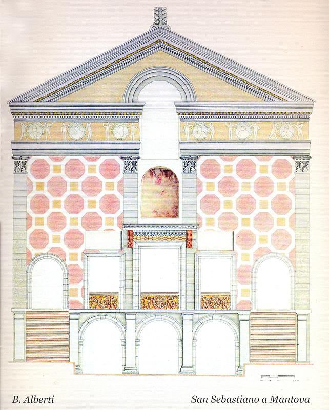 Leon Battista Alberti. Church of San Sebastiano. Facade design