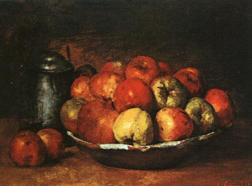 Гюстав Курбе. Натюрморт с яблоками и гранатами