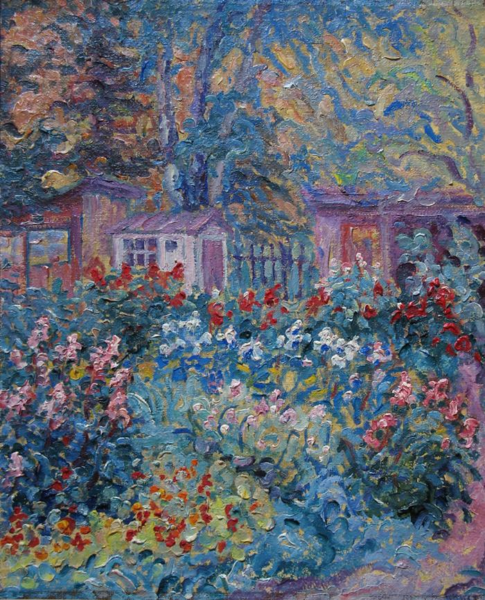 Alexey Vladimirovich Konstantinov. Garden. Evening