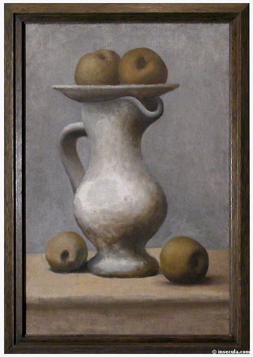 Пабло Пикассо. Натюрморт с кувшином и яблоками