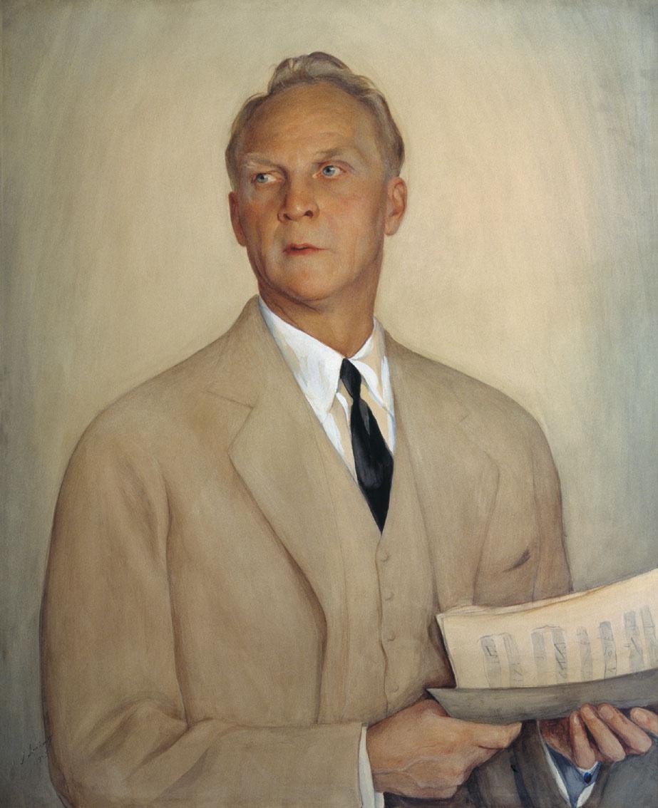 Saveliy Abramovich Sorin. Portrait of F.I. Chaliapin .. 1930s