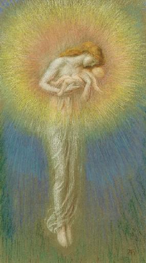 Arthur Hughes. Mother of God
