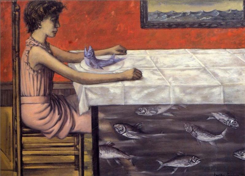 Доротея Таннинг. Голубая форель