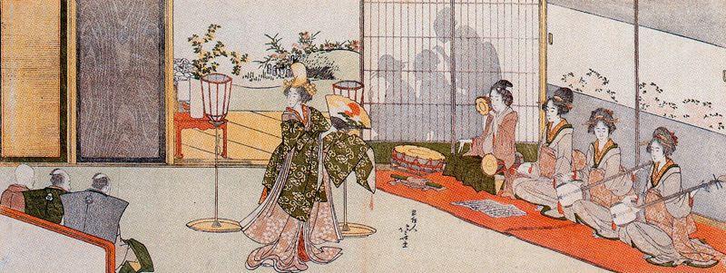 Кацусика Хокусай. Танцевальное выступление