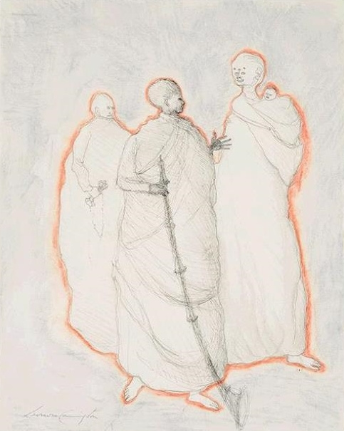 Leonora Carrington. Untitled (Three figures)
