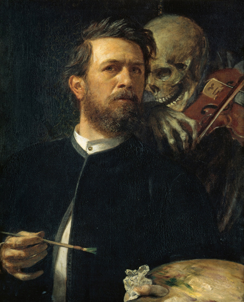 Arnold Böcklin. Self portrait with death