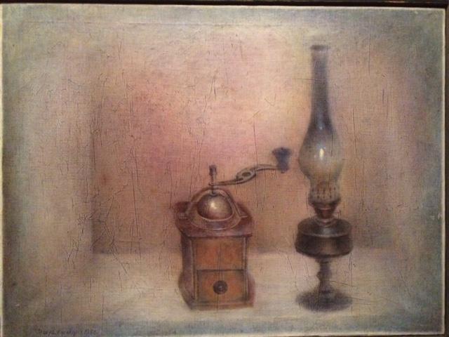 Igor Vasilyevich Kislitsyn. Still life with a kerosene lamp