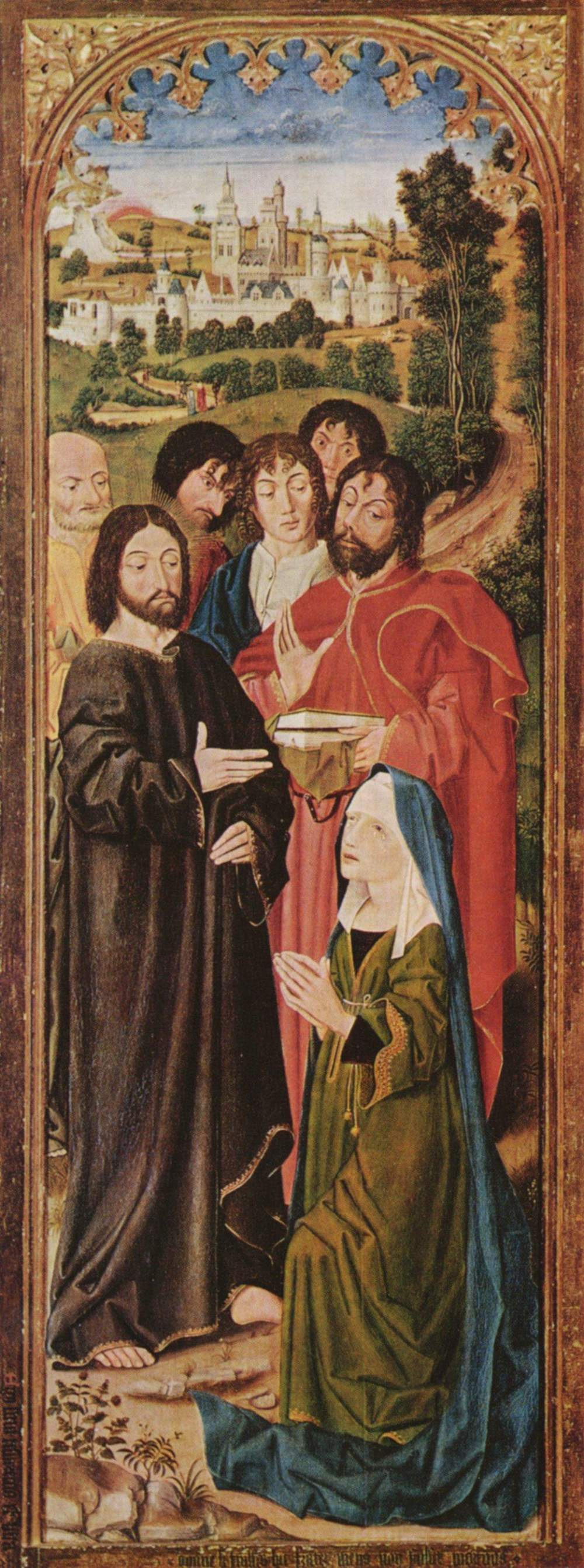 Nicola Froman. The raising of Lazarus, altar triptych, the inner side of the left leaf, scene: Christ and St. Martha
