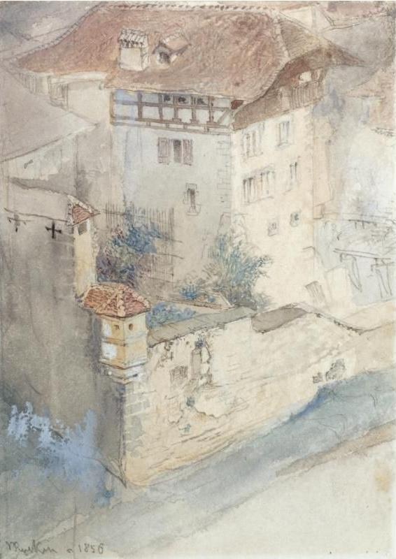 John Ruskin. Friborg, Switzerland