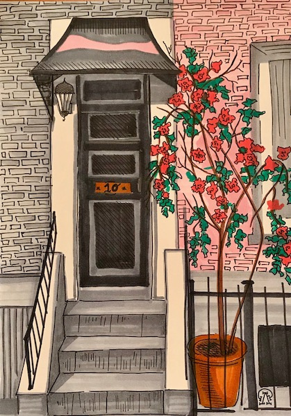 Larissa Lukaneva. Tenth apartment. Sketch.
