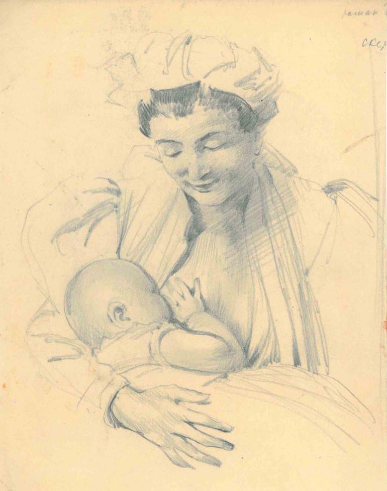 Amshey Markovic Nuremberg. Nursing mother.