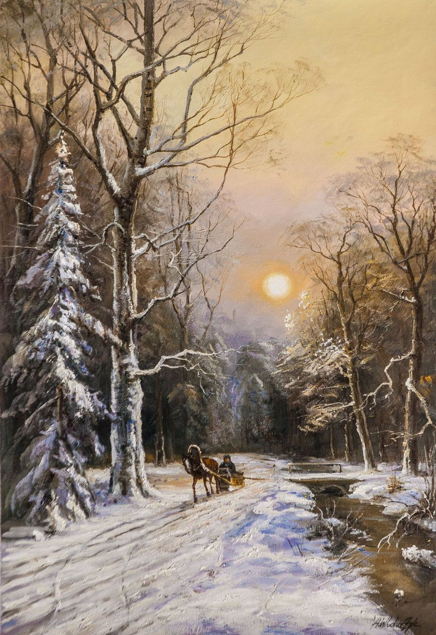 Andrzej Vlodarczyk. On a winter road along the ice-free stream N3