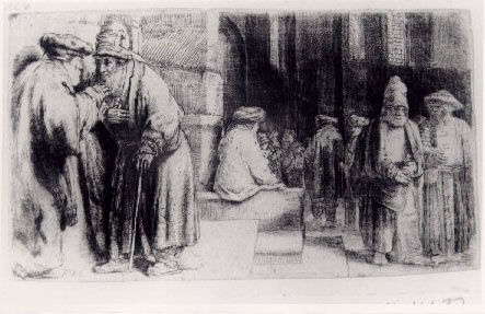 Рембрандт Ван Рейн. Евреи в синагоге