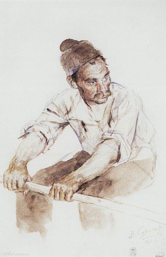 Василий Иванович Суриков. Казак-гребец