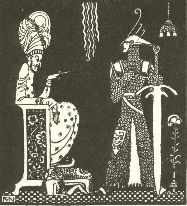 Кей Нильсен. Иллюстрация к  сказке  На восток от солнца, на запад от луны 15