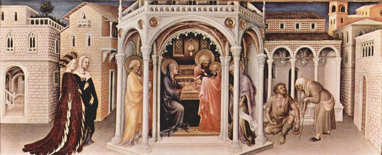 Джентиле да Фабриано. Представление в храме