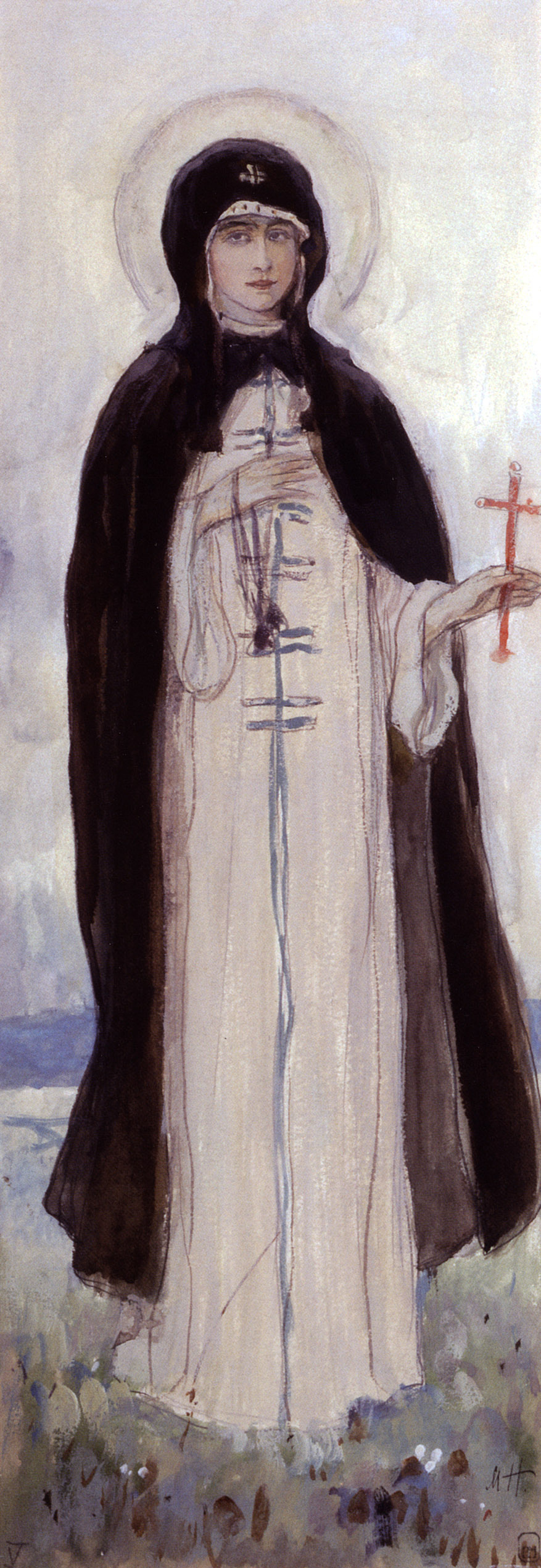 Mikhail Vasilyevich Nesterov. The Nun Xenia. The sketch for the painting of the pylon of the Church in the name of blagovernogo Prince Alexander Nevsky