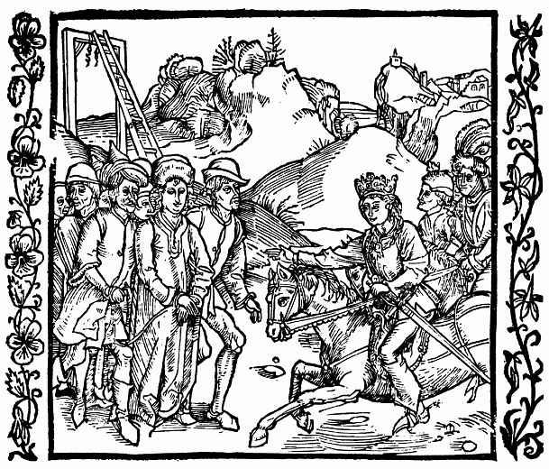 Альбрехт Дюрер. Сын императора освобождает Катона Младшего