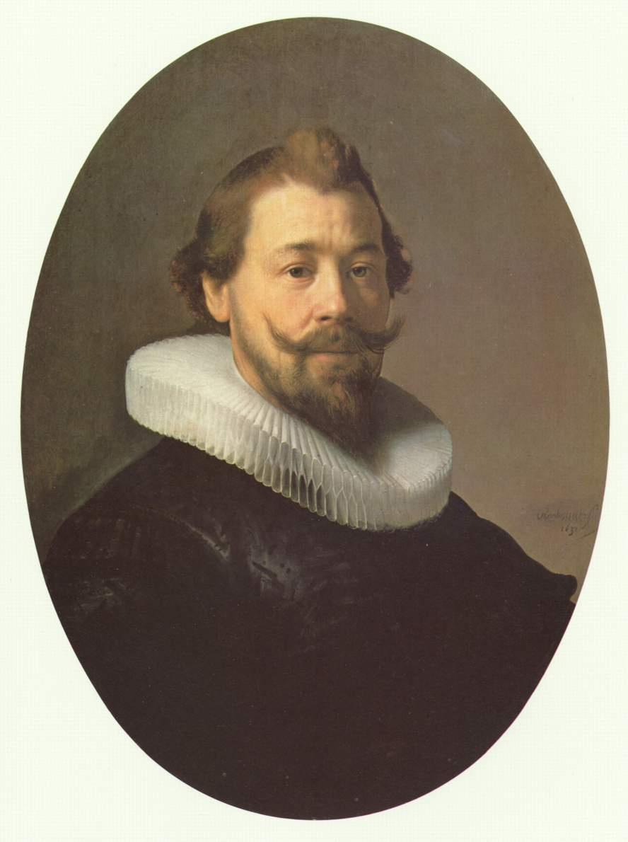 "Rembrandt Harmenszoon van Rijn. Portrait of a man in a collar ""mill wheel"""
