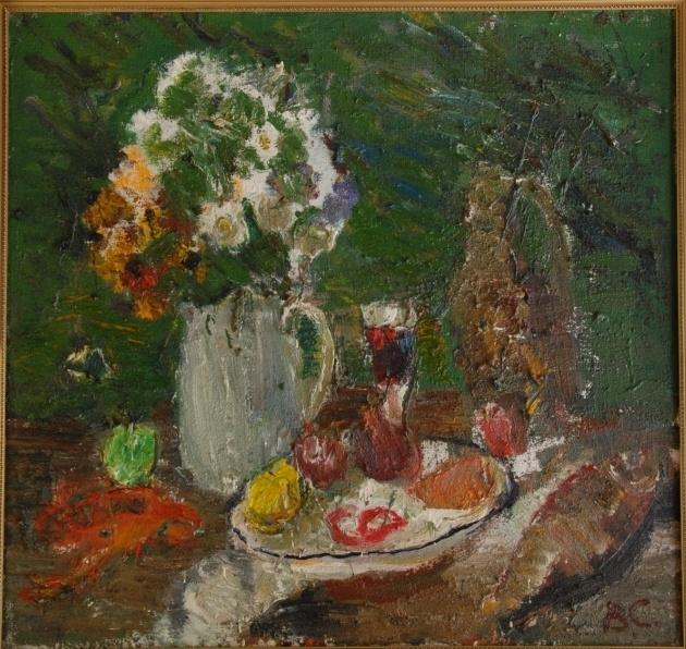 Виктор Семенович Сорокин. Still life with a glass of wine