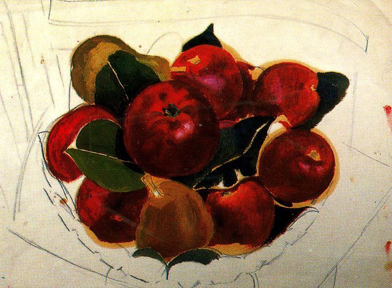 Stanley Spencer. Red apples