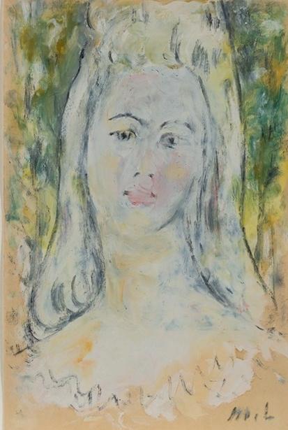 Михаил Федорович Ларионов. Портрет женщины