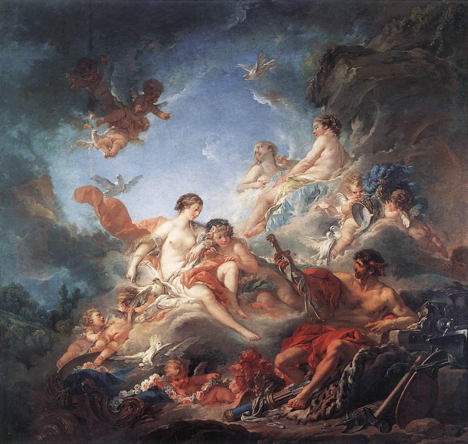 Франсуа Буше. Вулкан, вручающий Венере оружие для Энея