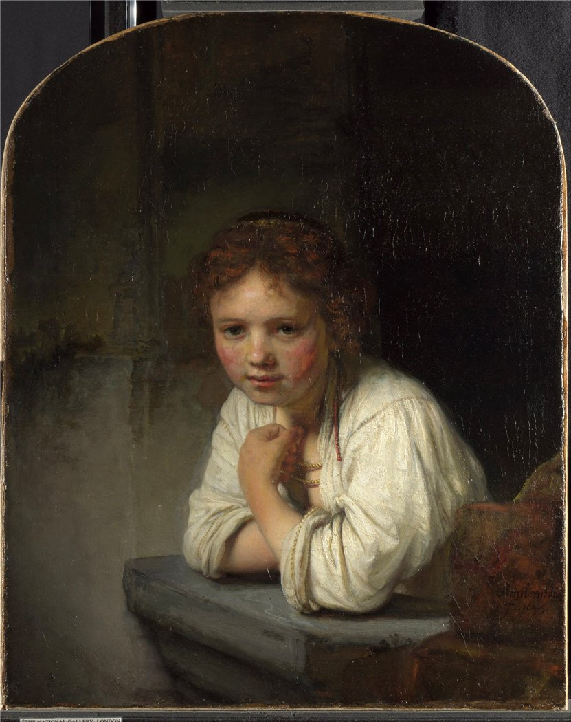 Rembrandt Harmenszoon van Rijn. The girl at the window
