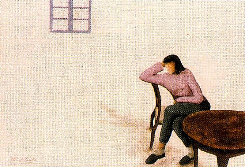 Дионисио Бланко. Девушка за столом
