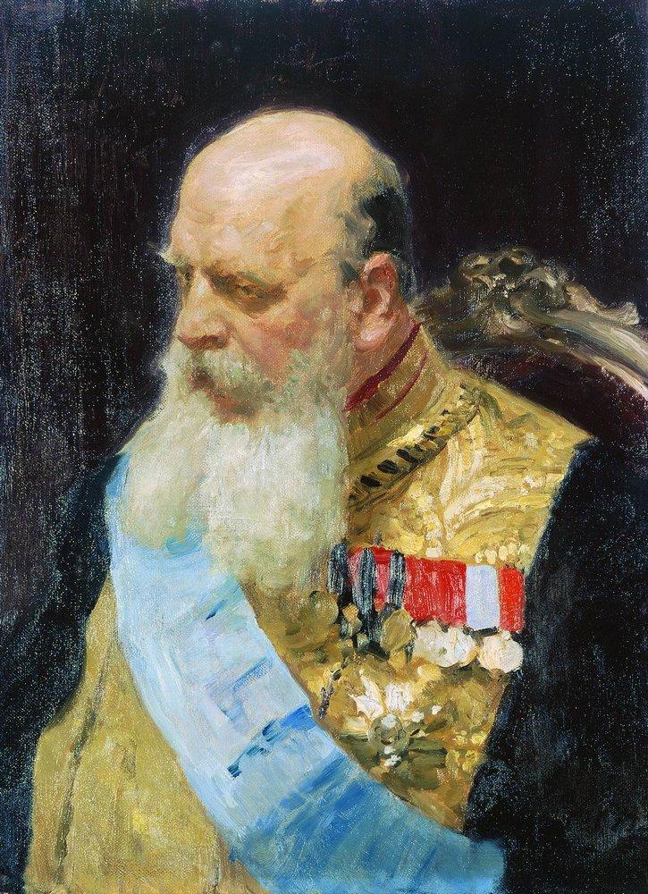Илья Ефимович Репин. Портрет графа Д. М. Сольского