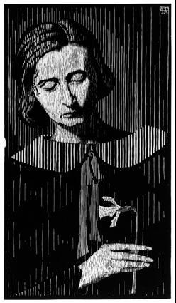 Мауриц Корнелис Эшер. Женщина с нарциссом
