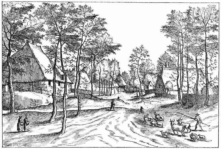 Питер Брейгель Старший. Серия Малые пейзажи, пейзаж №22