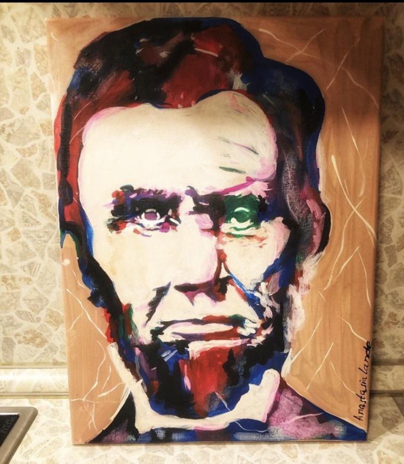 Anastasia Lande. Lincoln painting