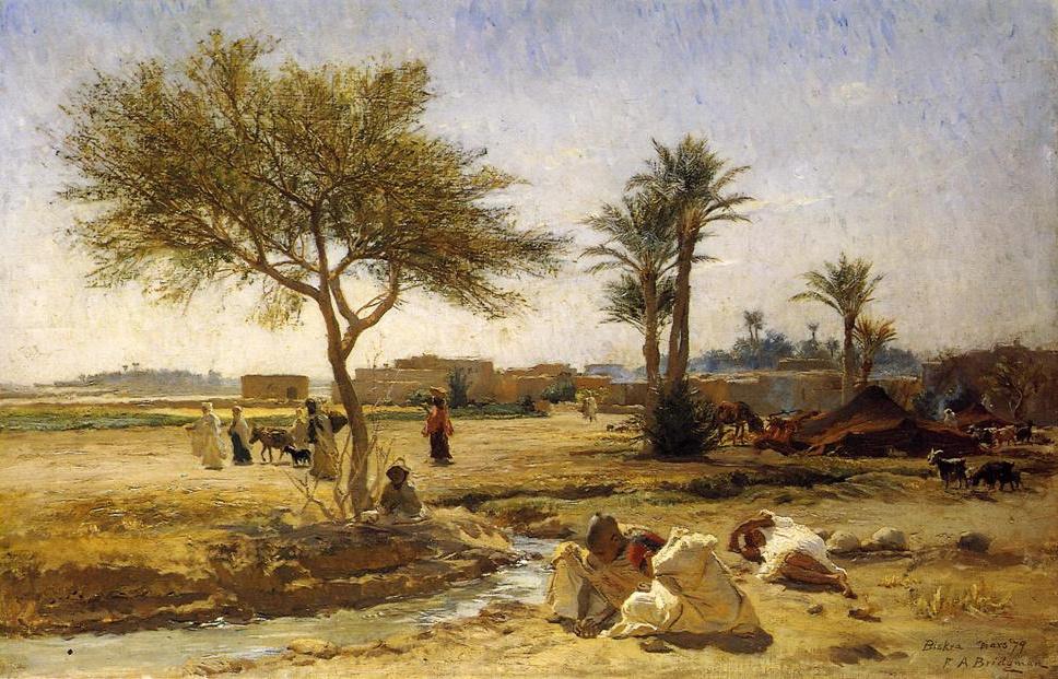 Фредерик Артур Бриджмен. Арабская деревушка