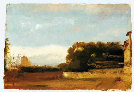 Edgar Degas. Italian landscape