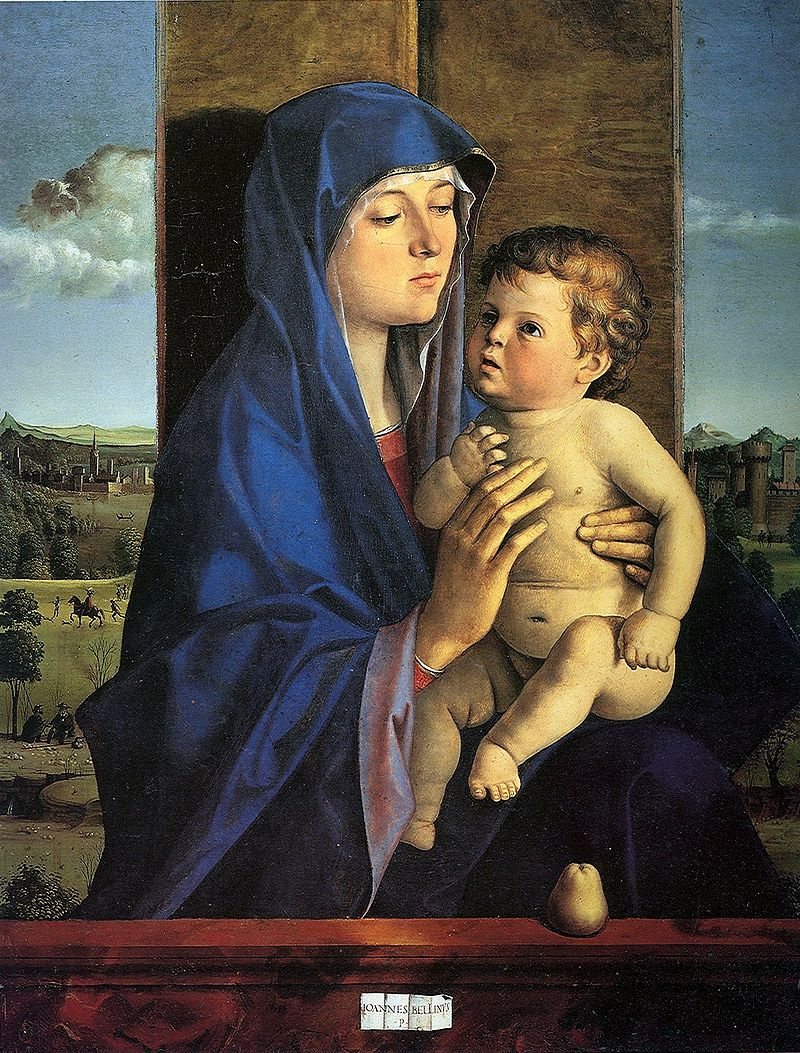 Джованни Беллини. Мадонна с младенцем и грушей