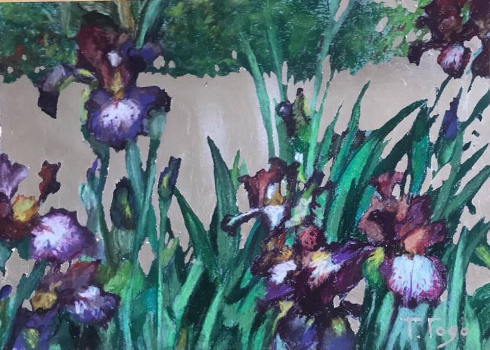 Tatyana Godovalnikova. Irises and silver.