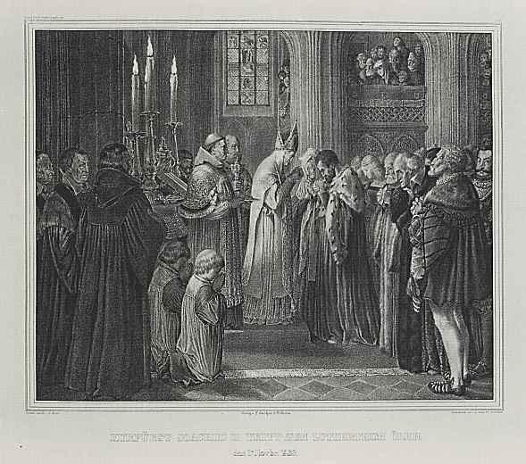 Адольф фон Менцель. Курфюрст Иоахим II переходит в лютеранство
