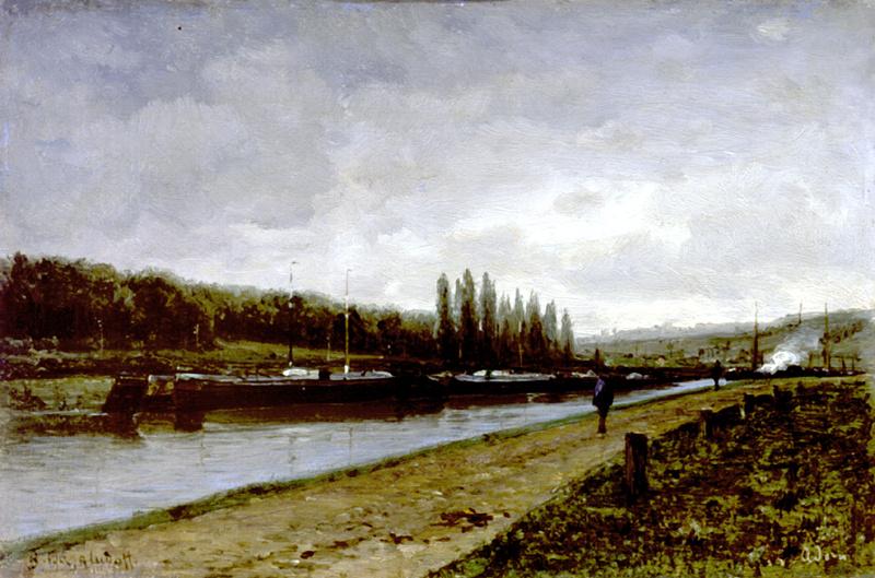 Алексей Петрович Боголюбов. Бичевник на реке Уазе