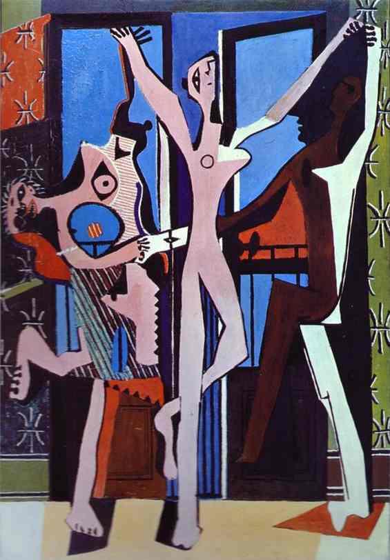 Пабло Пикассо. Три танцовщици